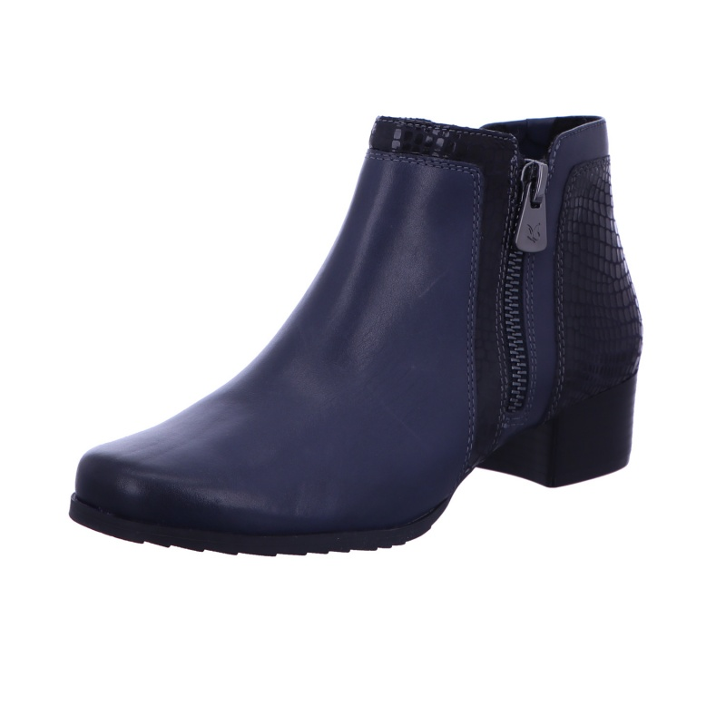 Stiefelette Boots Reißverschluss Damen Blau Neu