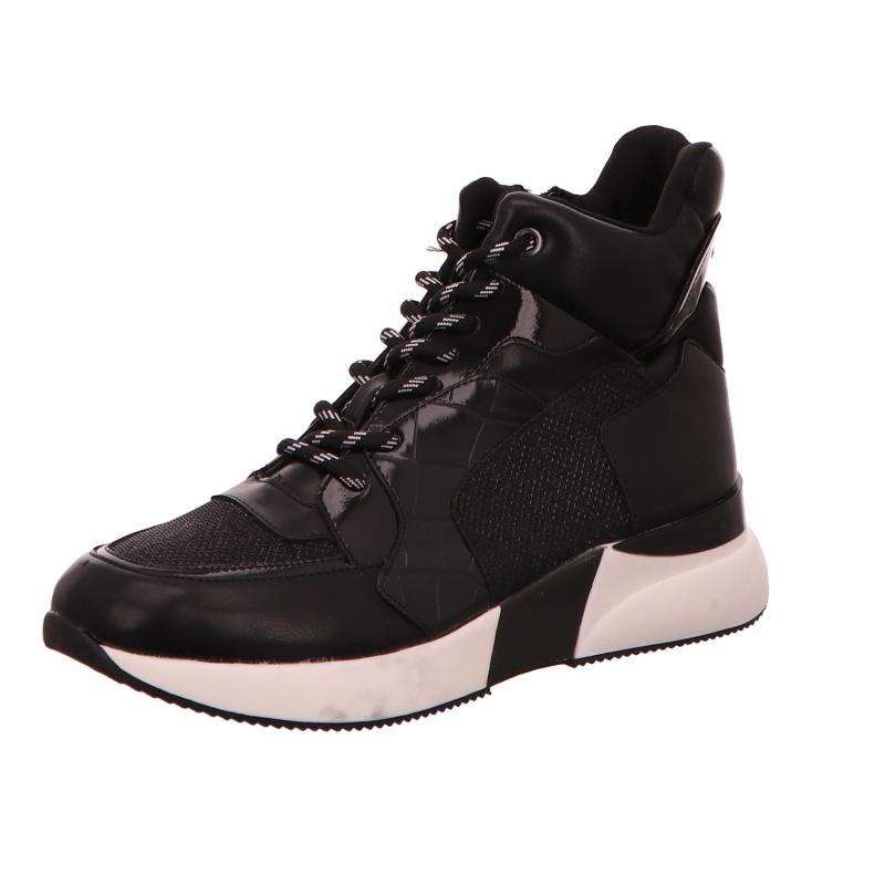 High Sneaker Stiefelette Halbschuh Damen Schwarz