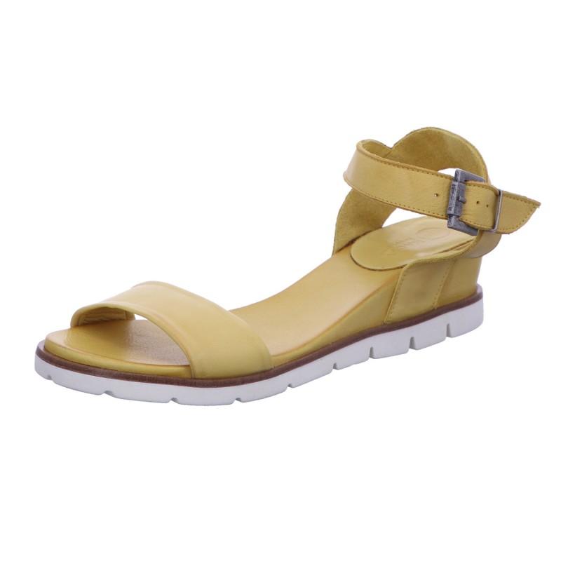Sandalette Schnalle Freizeit Damen Gelb