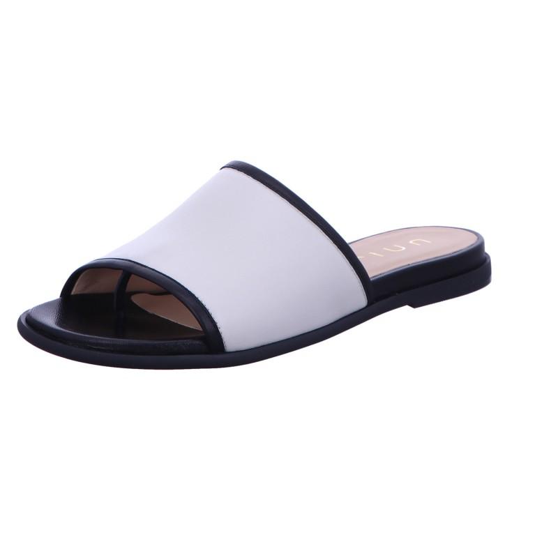 Pantolette Sandalette Sommerschuh Damen Grau Neu