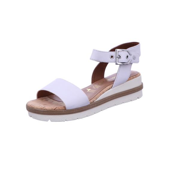 Sandalette Keilschuh Sommerschuh Damen Weiß Neu