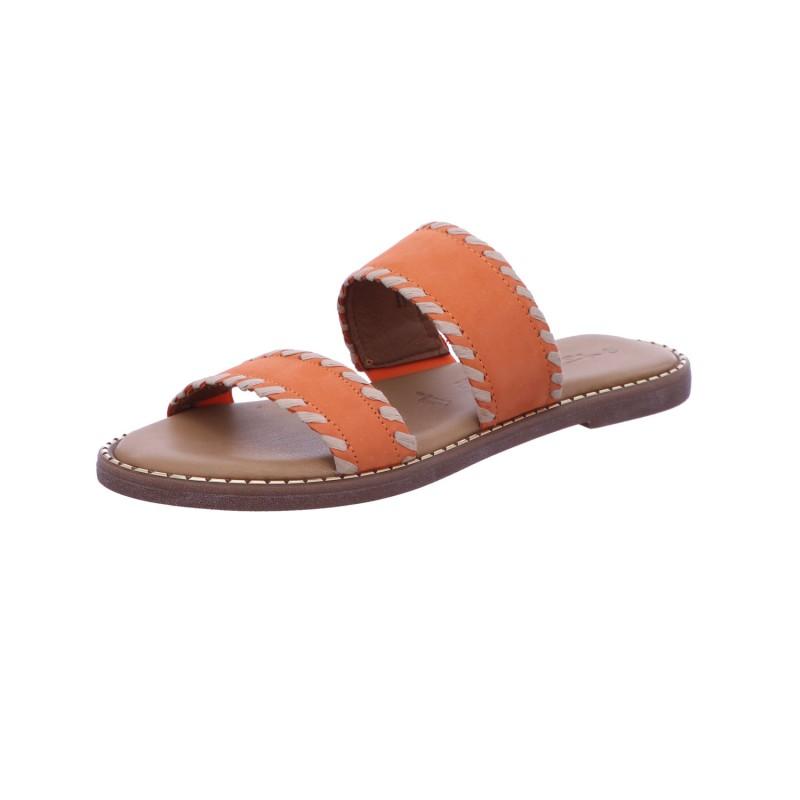 Pantolette Sandalette Sommerschuh Damen Orange Neu