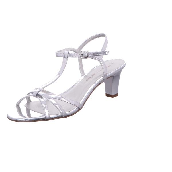 Sandalette Absatzschuh Sommerschuh Damen Silber