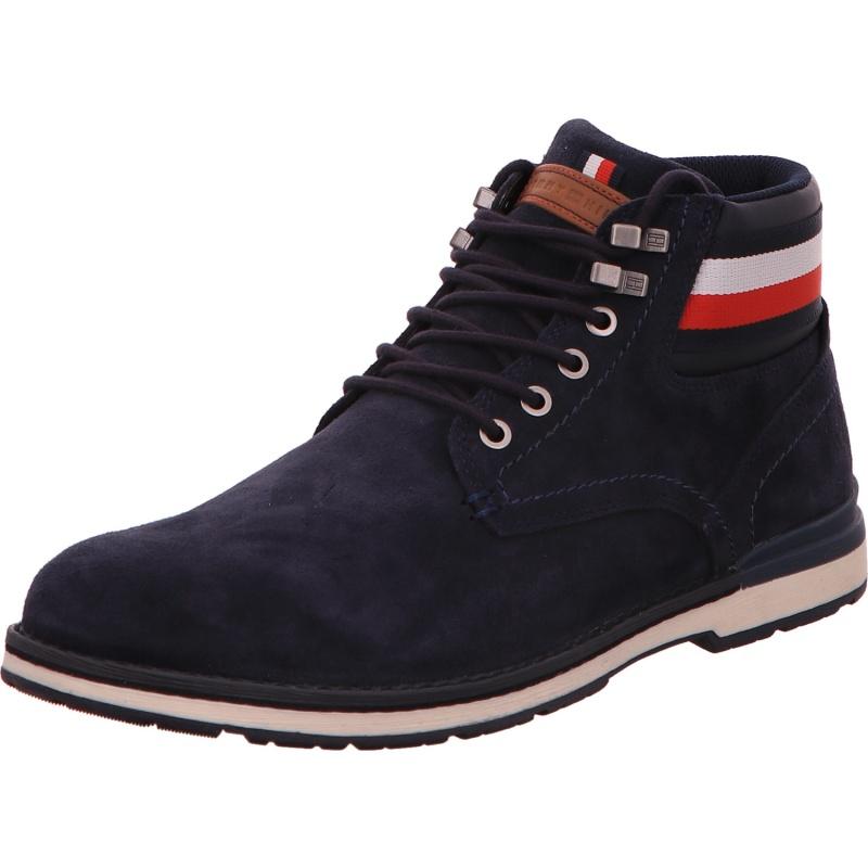 Schnürstiefelette Boots Stiefel Herren Blau Neu
