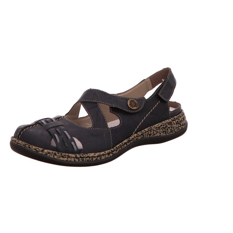 Sling Sandale Slipper Damen Blau Neu