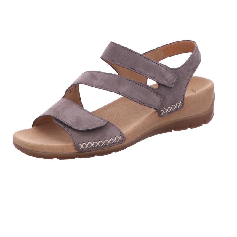 Sandale Klette Freizeit Damen Grau