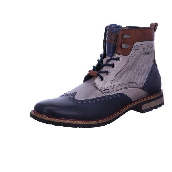 Schnürstiefel Boots Herren Blau Marcello Neu