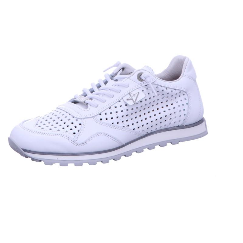 Sneaker Schnürhalbschuh Sport Weiß Uni