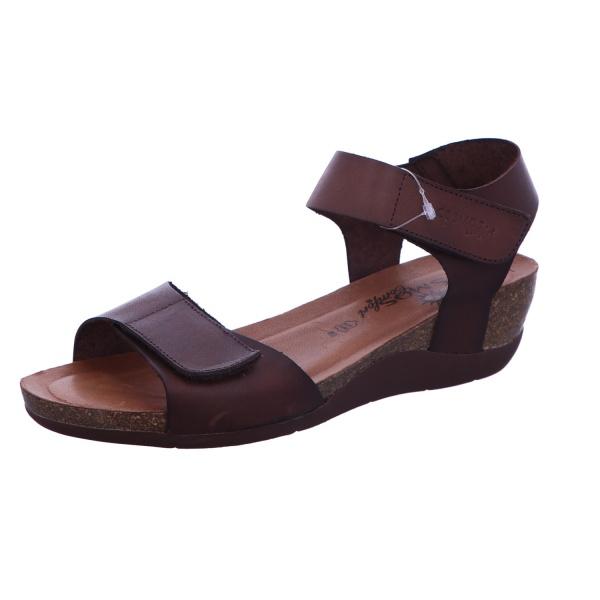 Sandale Schnalle Freizeit Damen Braun