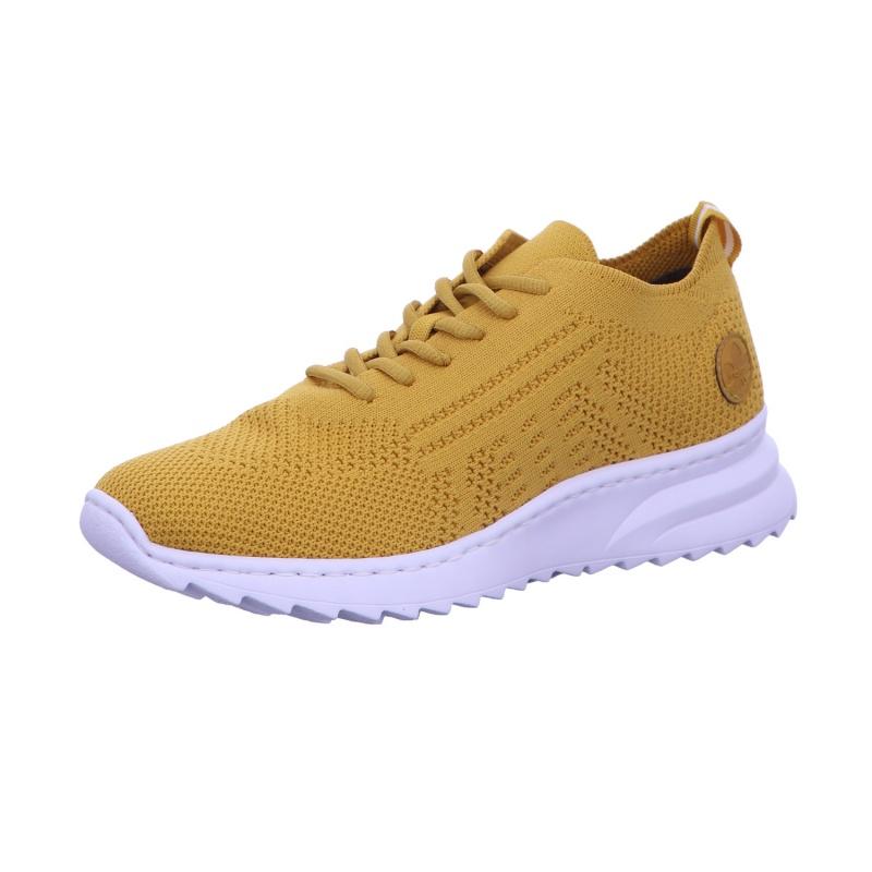 Sneaker Sportschuh Schnürschuh Damen Gelb Neu