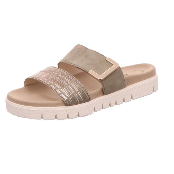 Pantolette Sandalette Sommerschuh Damen Grün Neu