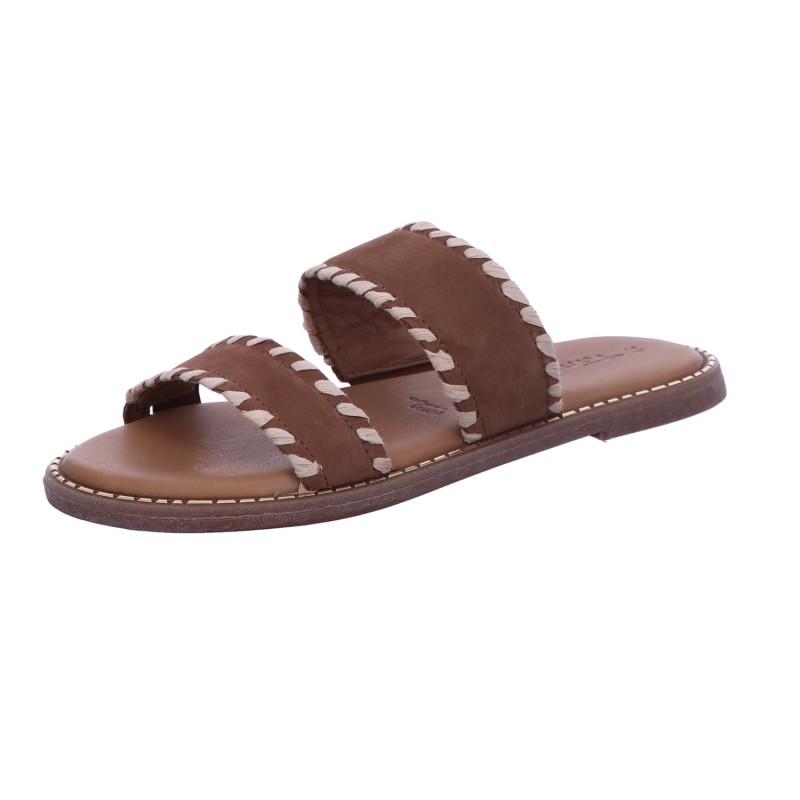 Pantolette Sandalette Sommerschuh Damen Braun Neu