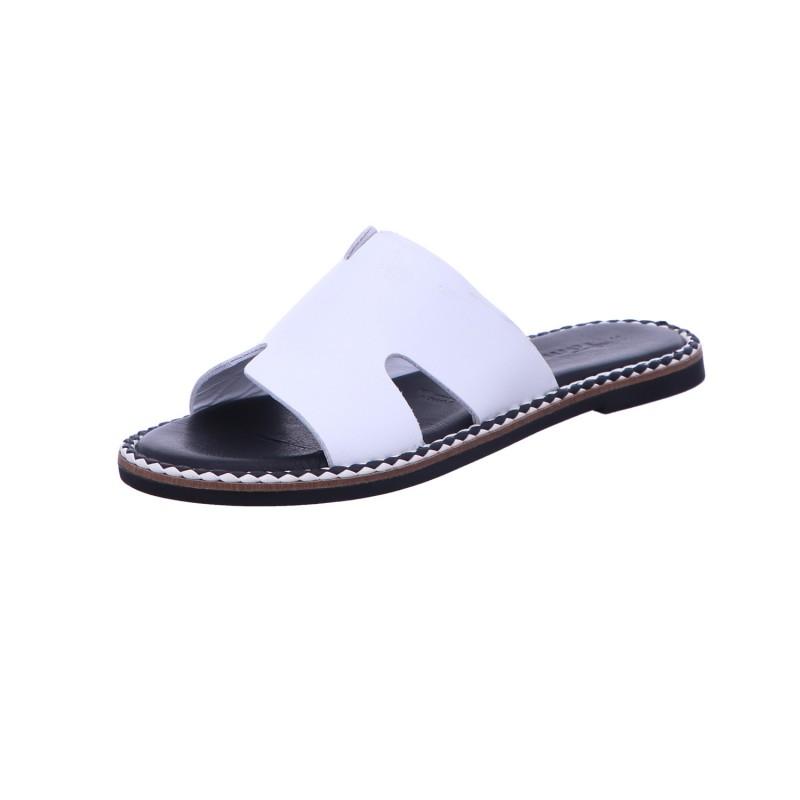 Pantolette Sandalette Sommerschuh Damen Weiß Neu