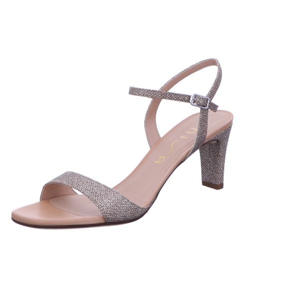 Sandalette Absatzschuh Sommerschuh Damen Metallic