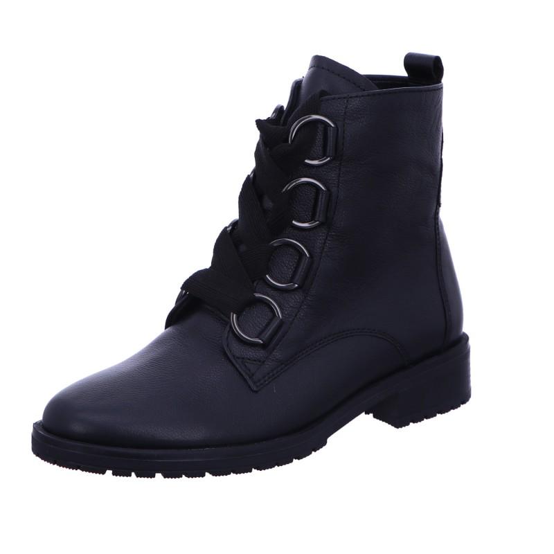 Schnürstiefelette Boots Schwarz Damen Genua Neu