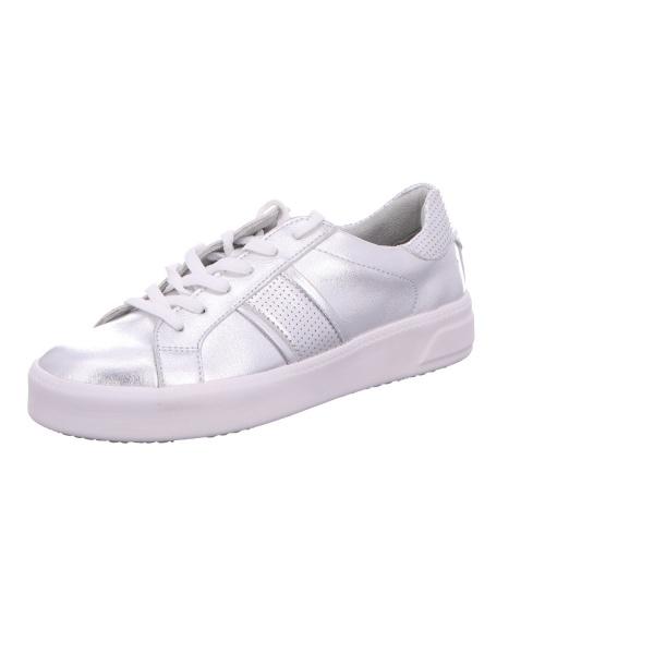 Sneaker Sportschuh Schnürschuh Damen Silber Neu