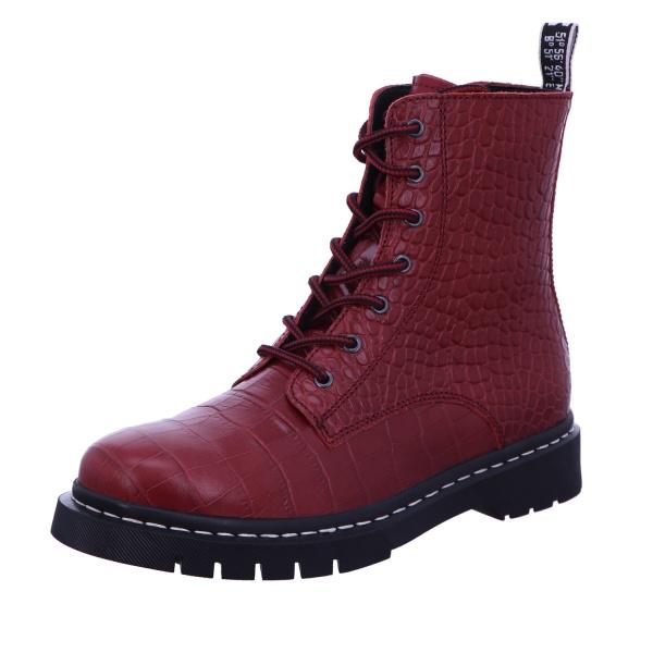 Schnürstiefelette Stiefel Boots Damen Bordo Neu