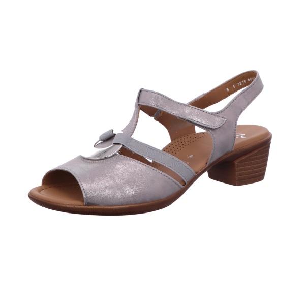 Sandalette Absatzschuh Damen Grau Lugano Neu