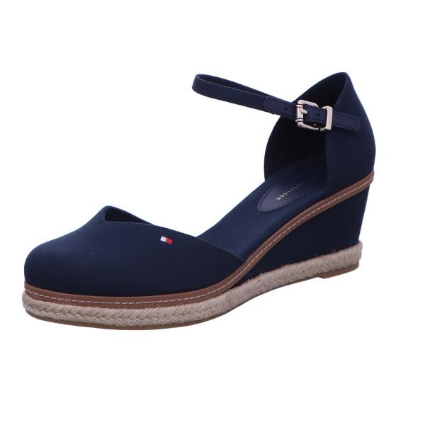 Sandalette Keilschuh Sommerschuh Damen Blau Neu