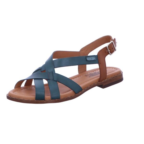 Sandale Schnalle Freizeit Damen Grün Algar
