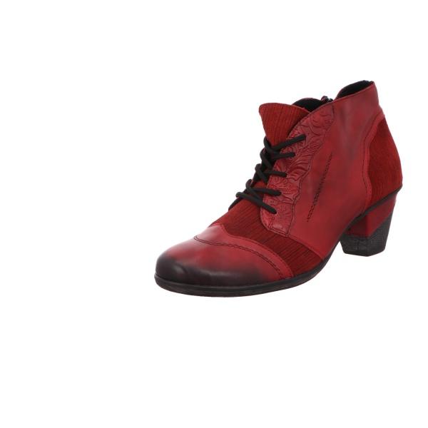 Schnürboot Stiefelette Boots Damen Rot Neu