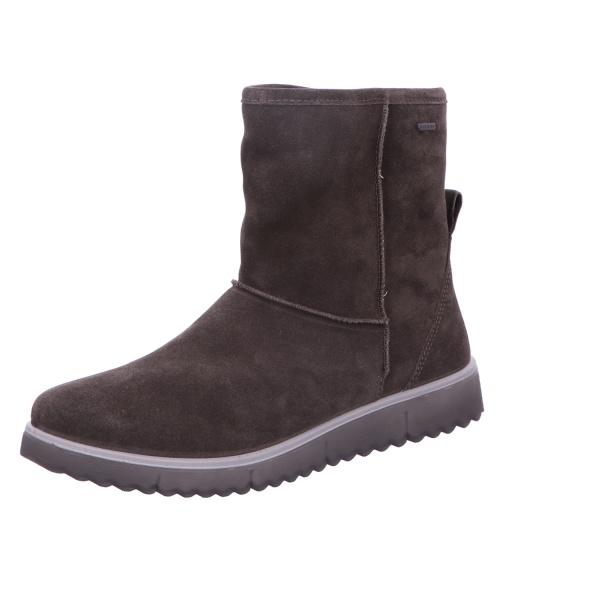 Schlupfstiefelette Stiefel Boot Damen Grau Neu