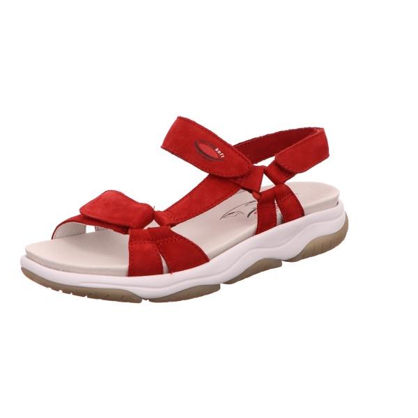 Sandalette Freizeit Sommerschuh Damen Rot Neu