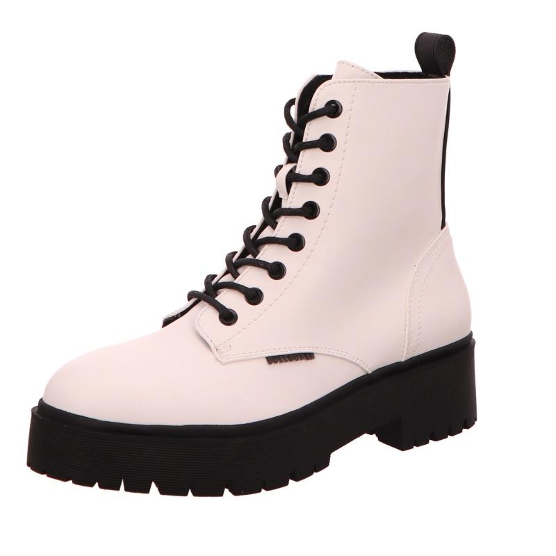 Schnürstiefelette Stiefel Boot Damen Weiß Neu