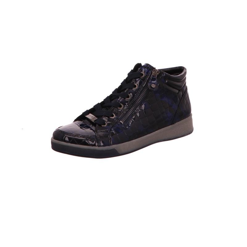 Schnürstiefelette Stiefel Boots Damen Blau Neu