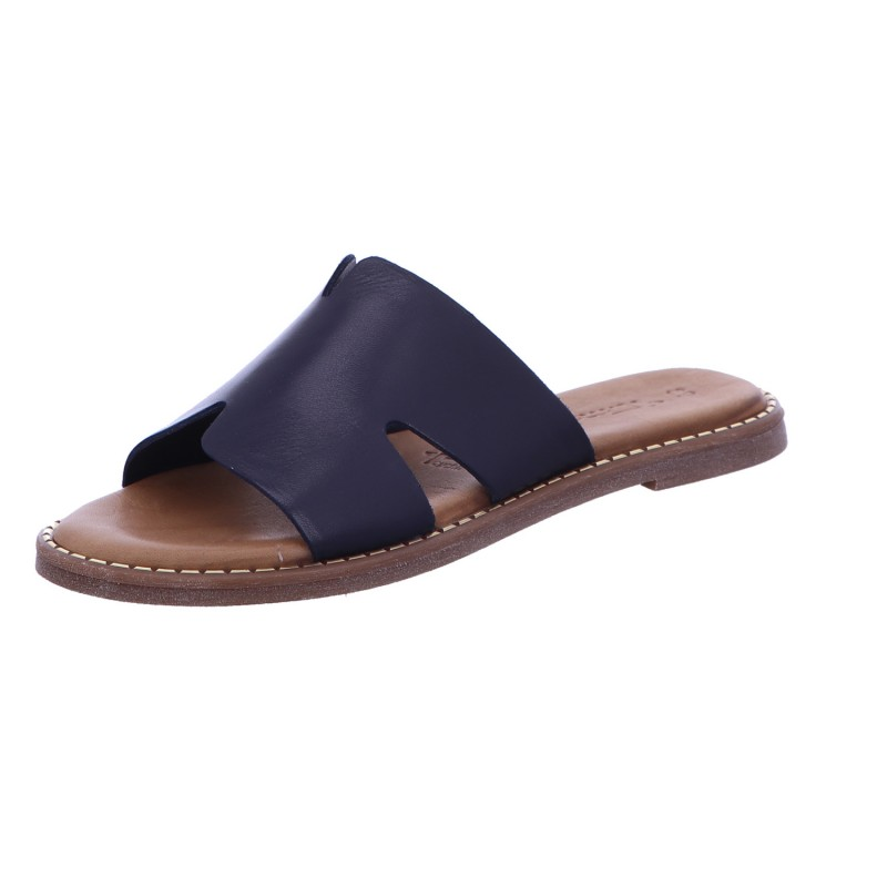 Pantolette Sandalette Sommerschuh Damen Blau Neu