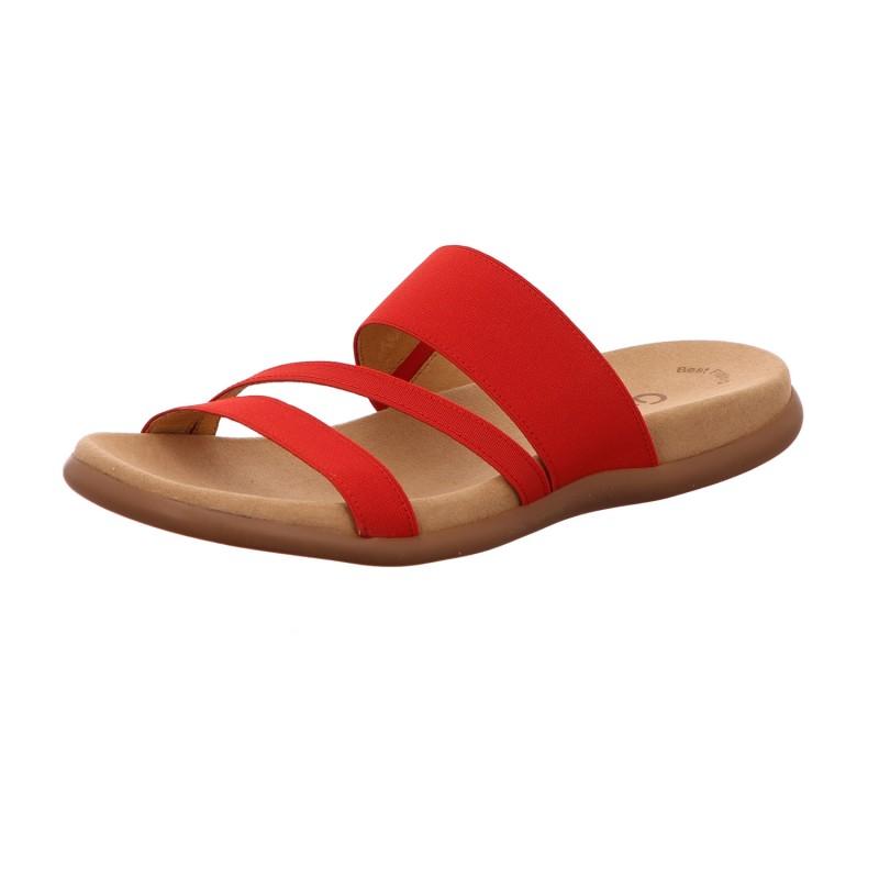 Pantolette Zehensteg Freizeit Damen Rot