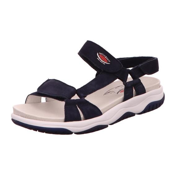 Sandalette Freizeit Sommerschuh Damen Blau Neu