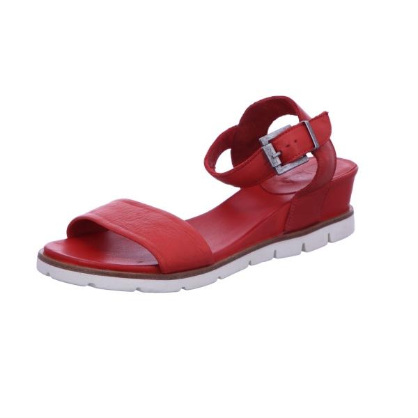 Sandalette Schnalle Freizeit Damen Rot