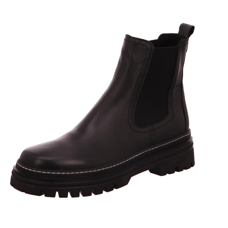 Schlupfstiefelette Stiefel Boot Damen Schwarz Neu