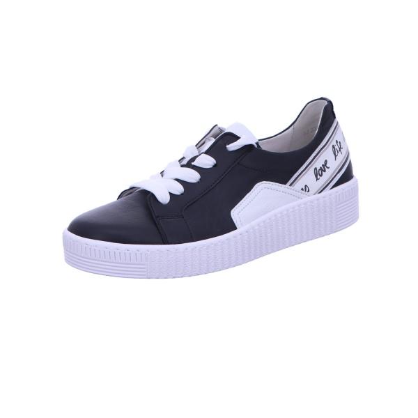 Sneaker Schnürhalbschuh Freizeit Damen Schwarz