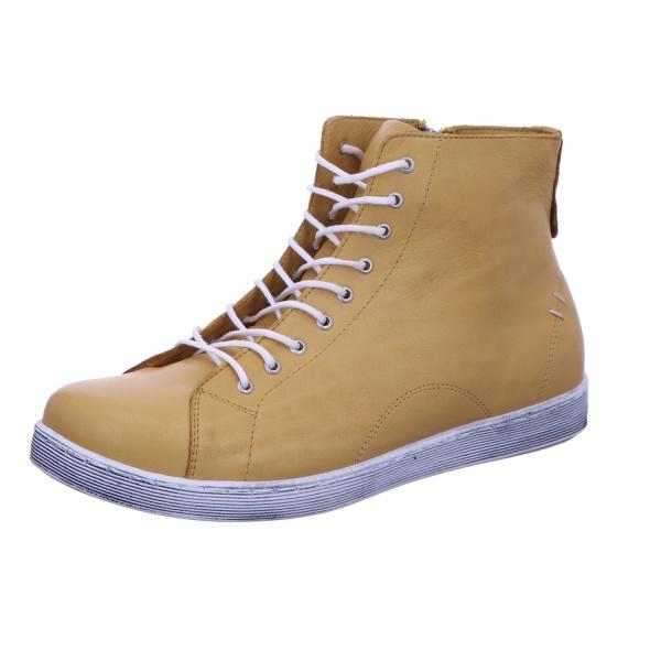 Schnürstiefelette Stiefel Boots Damen Gelb Neu